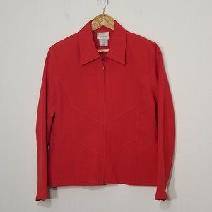 Tradition | Red Petite Zippered Jacket Blazer 10P